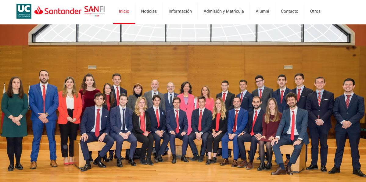 Máster Universidad Cantabria - Finanzas Santander