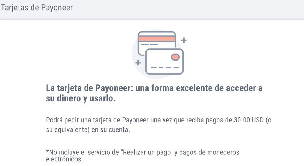 Cómo solicitar tu tarjeta Payoneer