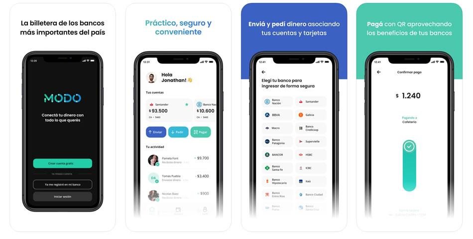 Bajar la app MODO y cargar dinero